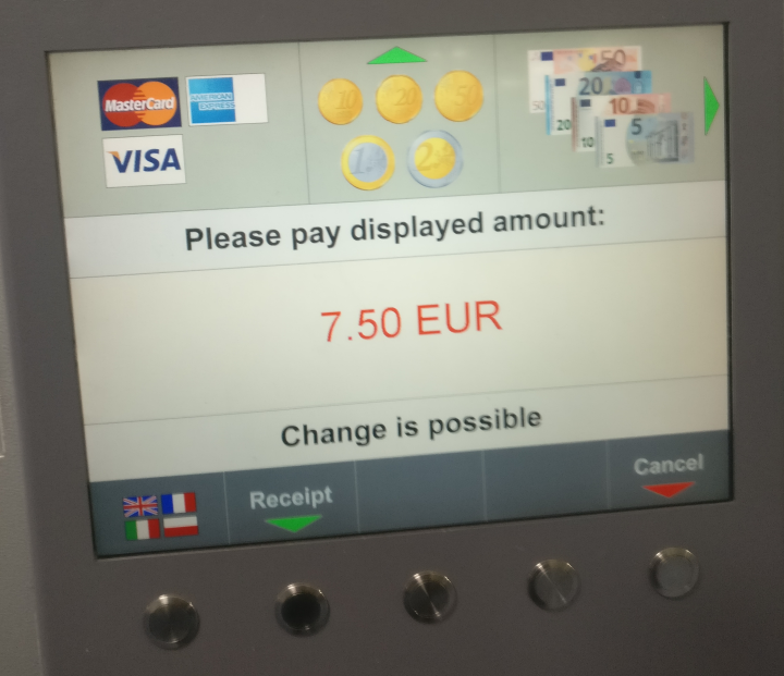 dublin airport parking payment with notice that change is possible